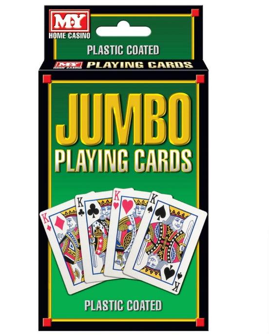 Jumbo Plastic Coated Playing Cards