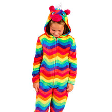 Load image into Gallery viewer, Kids Unicorn Bright Coloured Onesie