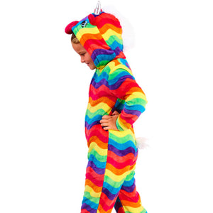 Kids Unicorn Bright Coloured Onesie