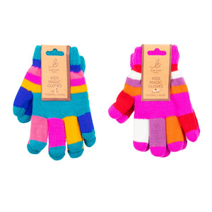Kids Gloves Magic Stripe Pink/Blue