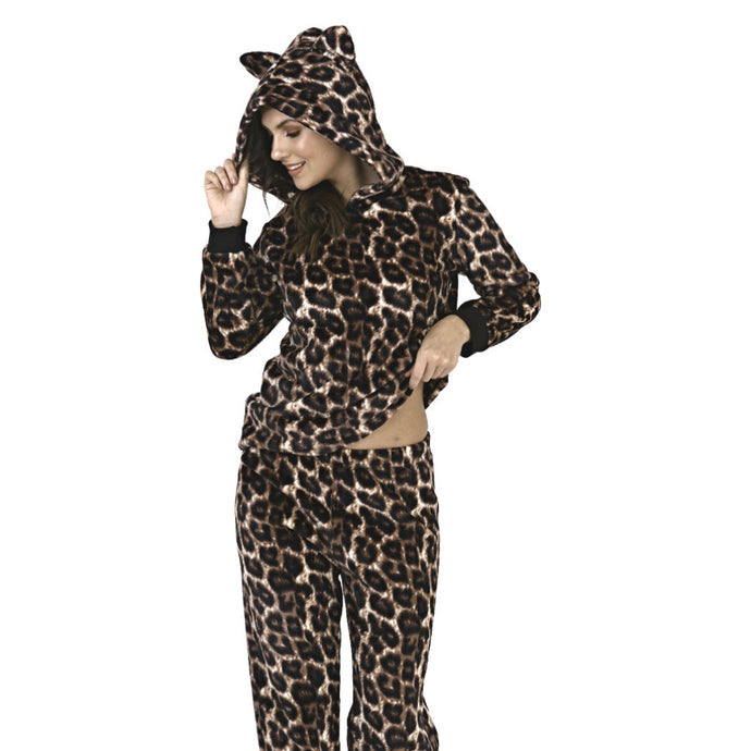 Leopard Two Piece Lounge Set