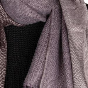 Blanket Scarf Two Tone Contrast Charcoal