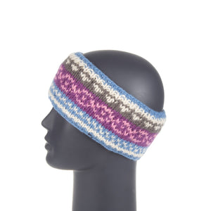 Himalayan Knitted Headband  Blue