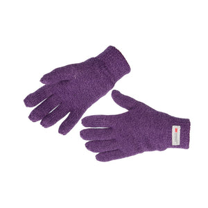 Women's Thinsulate Marl Effect Gloves Purple