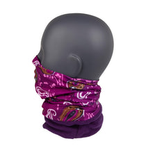Load image into Gallery viewer, Neck Warmer Purple Paisley