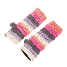 Load image into Gallery viewer, Himalayan Ribbed Knit Handwarmer Pink