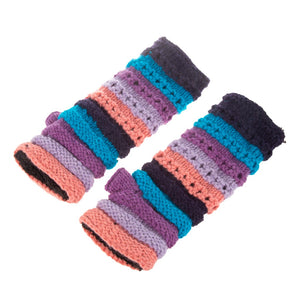 Himalayan Ribbed Knit Handwarmer Blue