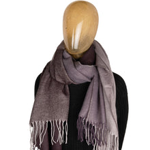 Load image into Gallery viewer, Blanket Scarf Two Tone Contrast Charcoal