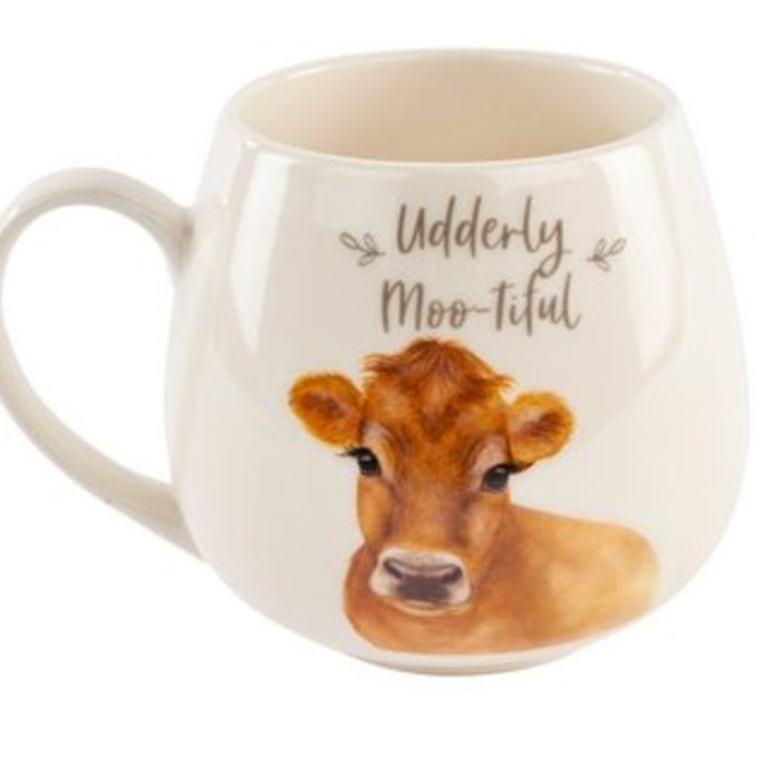 Udderly Moo-tiful Cow Mug