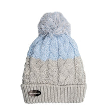 Load image into Gallery viewer, Bobble Hat Waterproof Grey/Ice Blue
