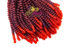 Load image into Gallery viewer, Spring Twist Hair 8inch Color Raspy Red (TPurpleRed) (UNTWISTED)