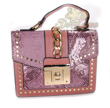 Load image into Gallery viewer, Snaked Crossbody Handbag - Plum
