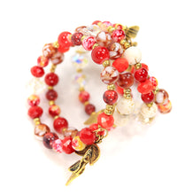 Load image into Gallery viewer, Handmade - Red Spark Wrap Bracelet