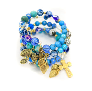 Handmade - Treasured Sea Wrap Bracelet