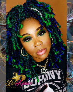 Spring Twist Hair 8inch Color Green Envy (TGreen) (UNTWISTED)