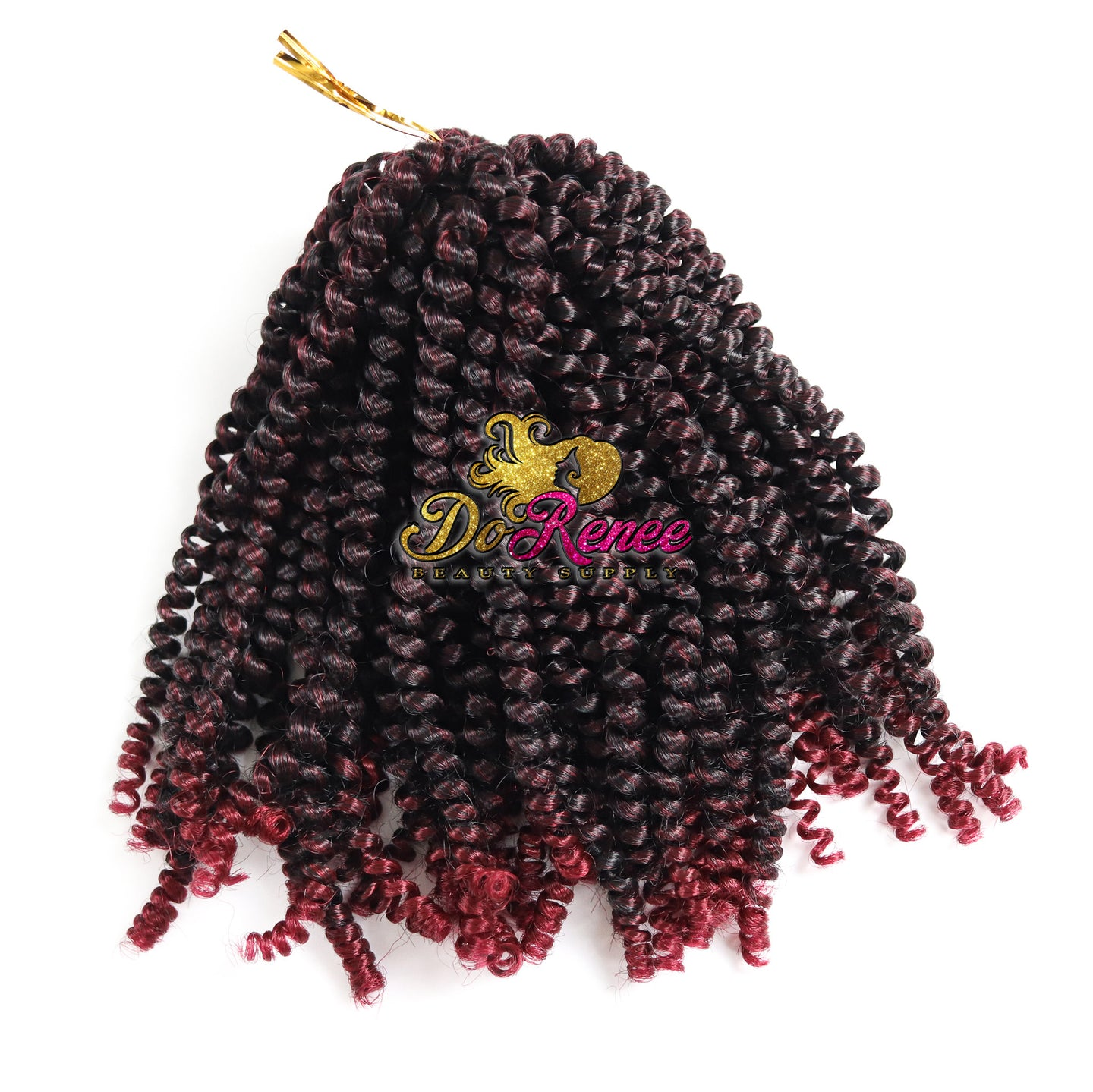 Spring Twist Hair 8inch Color TBURG (UNTWISTED)