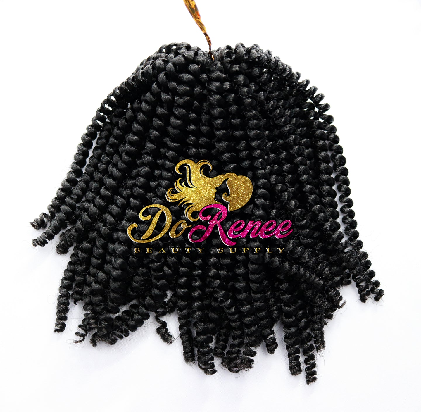 Spring Twist Hair 8inch Color 1B (UNTWISTED)