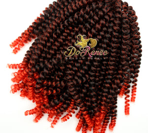 Spring Twist Hair 8inch Color Candy Painted Red (1B/Red) (UNTWISTED)