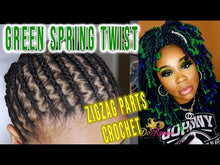 Load and play video in Gallery viewer, Spring Twist Hair 8inch Color Green Envy (TGreen) (UNTWISTED)