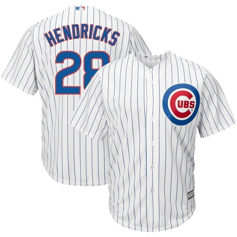 premium selection 07509 c4efc Kyle Hendricks #28 Chicago Cubs White Home Official Cool Base Jersey