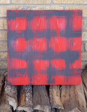 "Load image into Gallery viewer, 16"" x 16""  WOOD  BOARD SIGN- Distressed Buffalo Plaid Options"