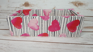 Striped Pattern with Hearts Wood Products