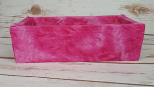 Pink and White Tie Dye Wood Products