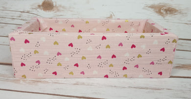 Blush with Hearts Pattern Wood Products
