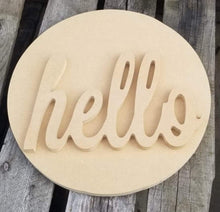 Load image into Gallery viewer, Hello Sign- Craft Kit
