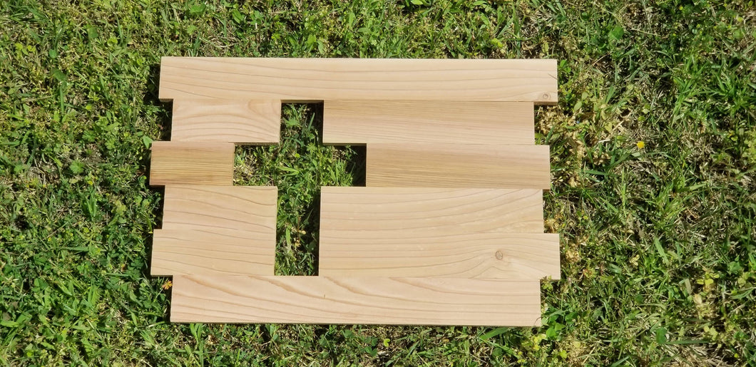 Rustic Cut Out Cross Sign