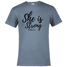 Load image into Gallery viewer, Short Sleeve T-Shirt -She is Strong