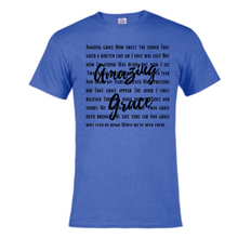 Load image into Gallery viewer, Short Sleeve T-Shirt  - Amazing Grace Lyrics