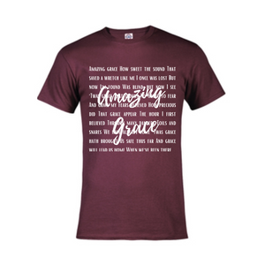 Short Sleeve T-Shirt  - Amazing Grace Lyrics