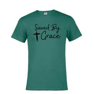 Short Sleeve T-Shirt  - Saved By Grace