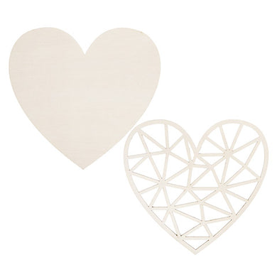 Heart Wood Cutout Set