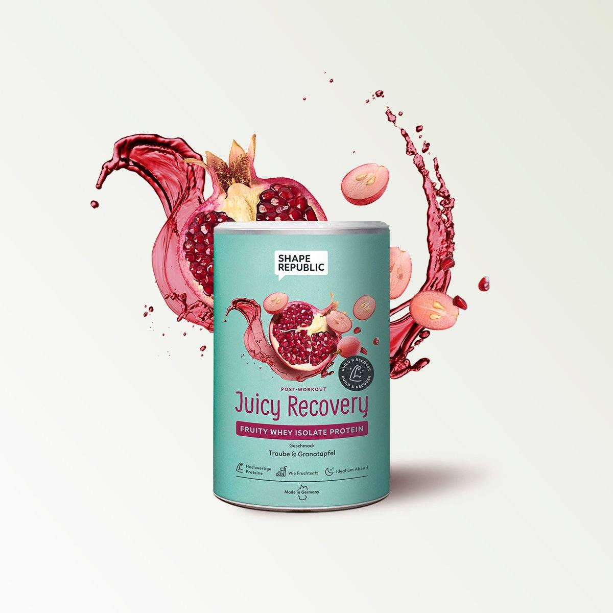 Post Workout Fruity Whey Isolat Protein »Juicy Recovery« (300g) Shape Republic