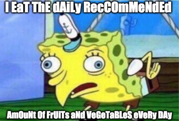 Daily Recommended Fruit & Vegetable Intake