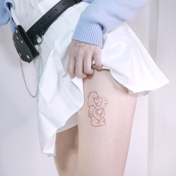 Happy Bear Temporary Tattoo