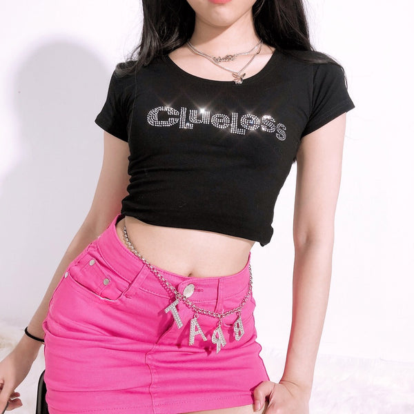 Clueless Crop Top (Black)
