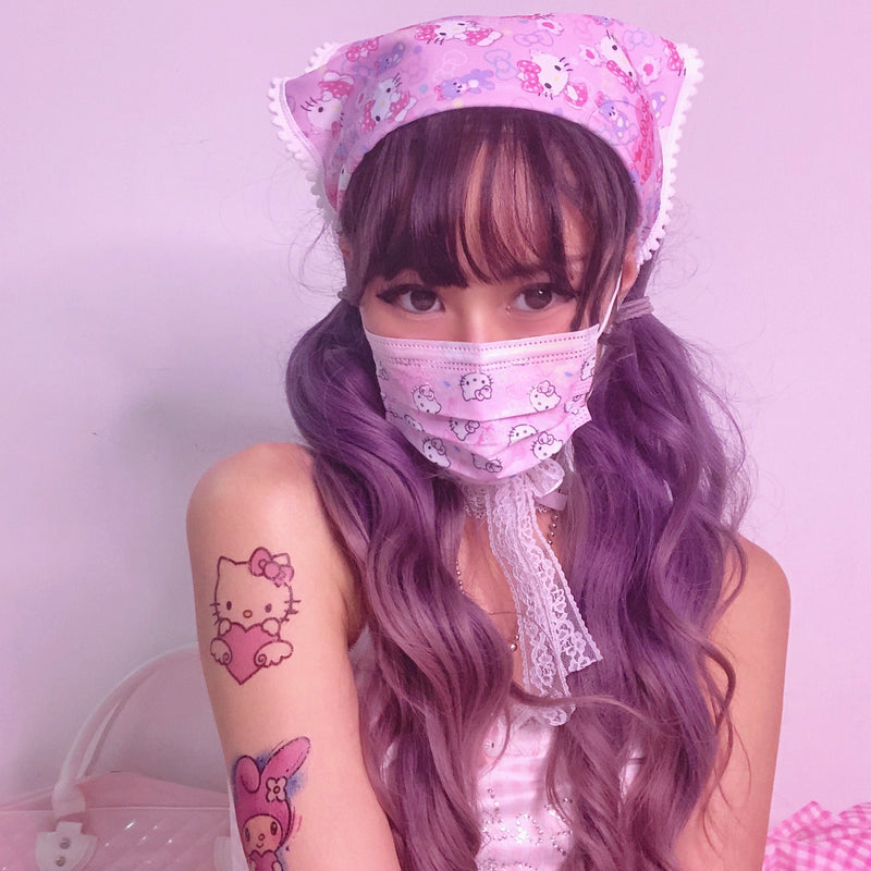 Pastel Kitty Hair Scarf Headband