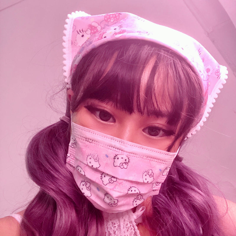 Pastel Kitty Face Mask (5 Pieces)