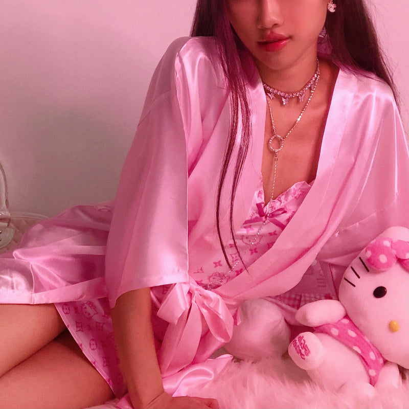 Princess Pink Satin Robes