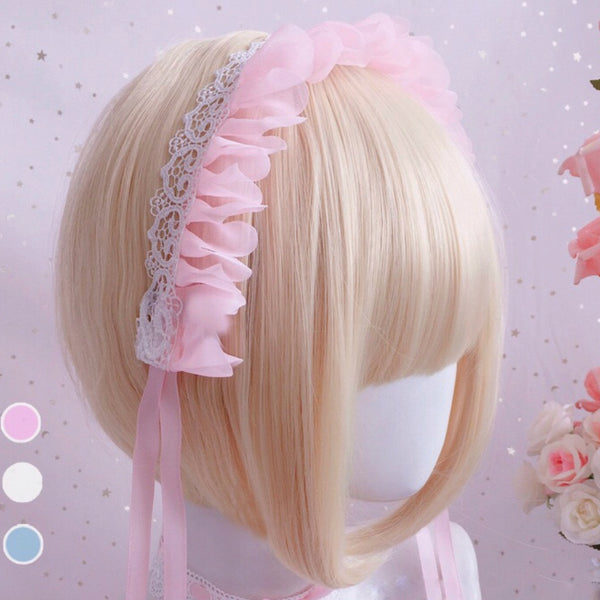 Doll House Headband (Pink/ White/ Blue)