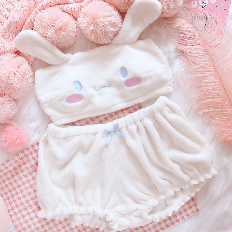 Fuzzy Kawaii Two Piece Set