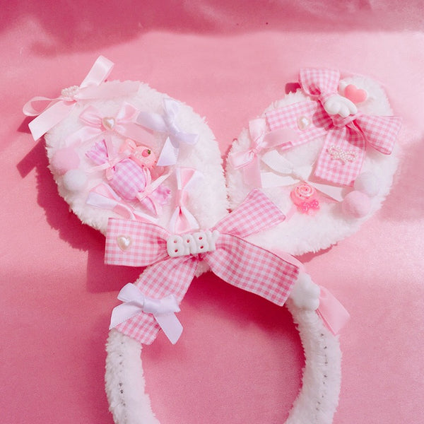 Candyland  Bunny Ears ( Pink/ Blue)