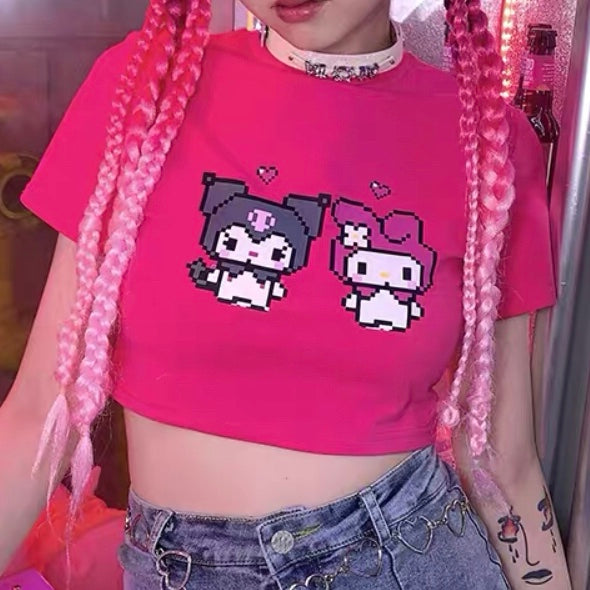 Pixel Friends Crop Top (3 Colors)