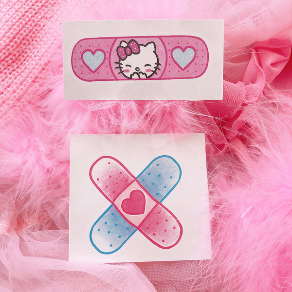Kitty Band-Aid Temporary Tattoo Set