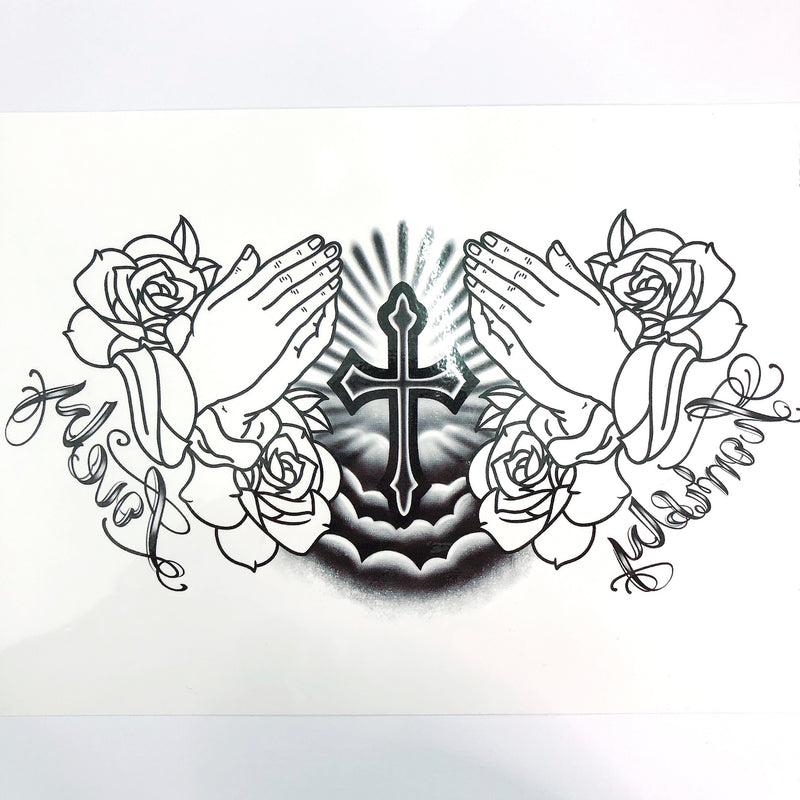Loyal Prayer Temporary Tattoo