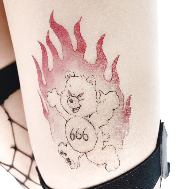 Evil Bear Temporary Tattoo