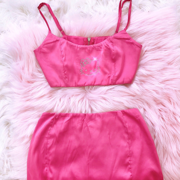 Satin Kitty Two Piece Set